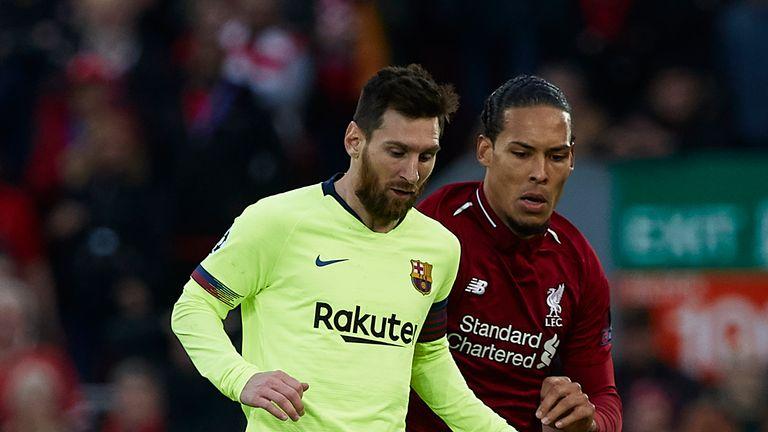 Lionel Messi and Virgil van Dijk