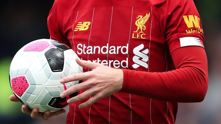 new style 83b1a 7c482 Liverpool face court battle with New Balance, their own kit ...