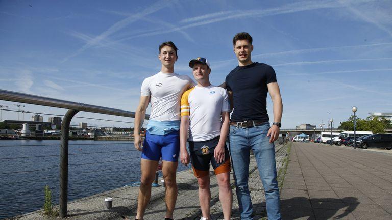 Ben Hamilton-Rhys, Tristan Edwards, London Otters Rowing Club meet Sport Allies / Warwick Rowers, Royal Docks in east London
