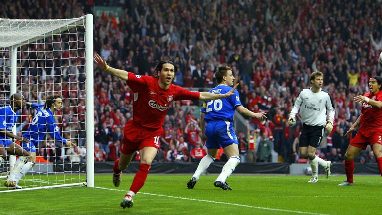 Luis Garcia's scored the only goal across the Champions League semi-final