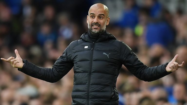 Pep Guardiola says there is no pressure on him at Manchester City to win the Champions League