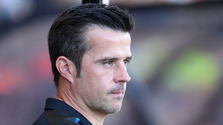 Marco Silva, Manager of Everton looks on prior to the Premier League match between AFC Bournemouth and Everton FC at Vitality Stadium on September 15, 2019 in Bournemouth, United Kingdom.