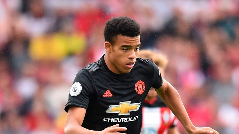 Mason Greenwood in action against Southampton at St Mary's Stadium