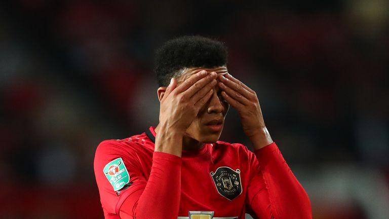 Mason Greenwood scored United's goal against Rochdale on Wednesday