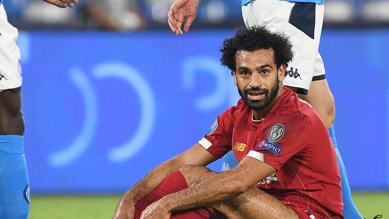 Mo Salah during Liverpool's defeat at Napoli