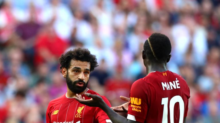 Will it be Sadio Mane or Mo Salah who starts on the right of Liverpool's attack on Sunday?