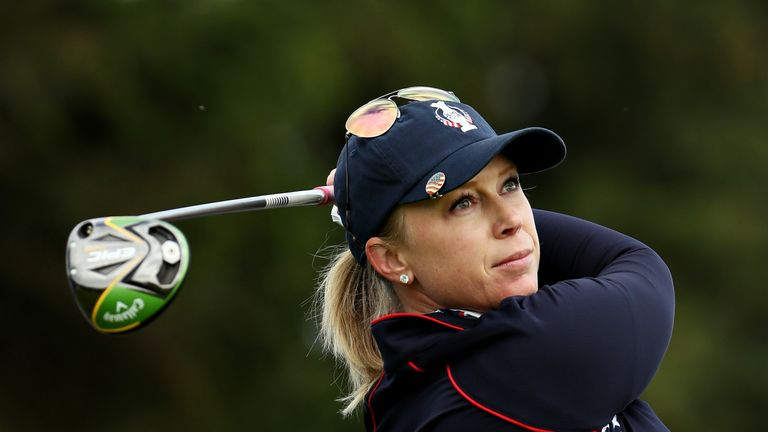 Morgan Pressel trailed from the second hole