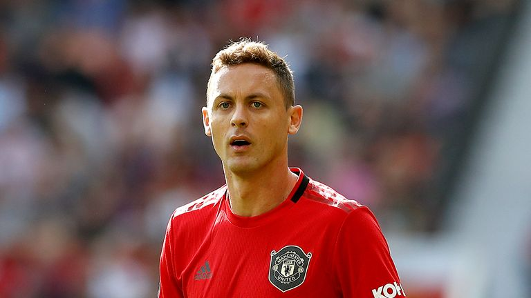 Manchester United's Nemanja Matic during the Premier League match against Leicester at Old Trafford