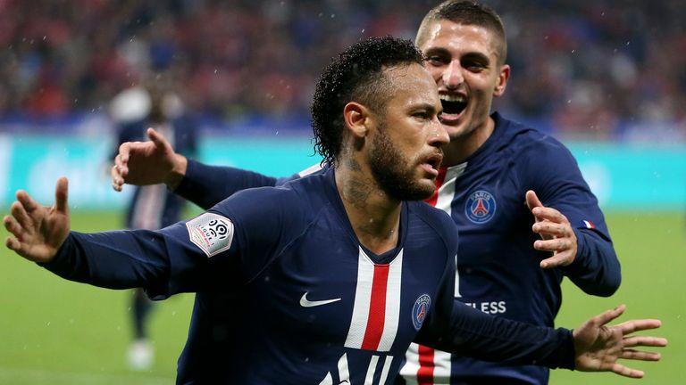 Neymar scored the only goal as PSG beat Lyon 1-0