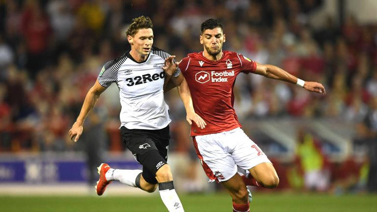 Nottingham Forest face Derby live on Sky Sports Football on Saturday, November 9