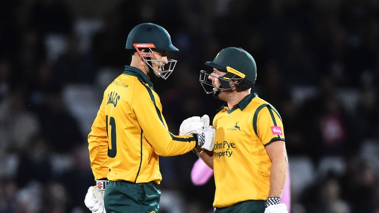 Alex Hales and Chris Nash fire Nottinghamshire Outlaws to Vitality Blast victory over Middlesex