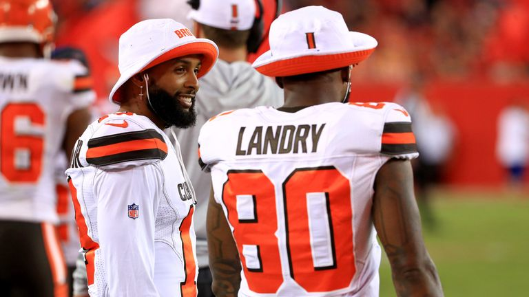 High school and college team-mates Odell Beckham Jr and Jarvis Landry have been reunited in Cleveland