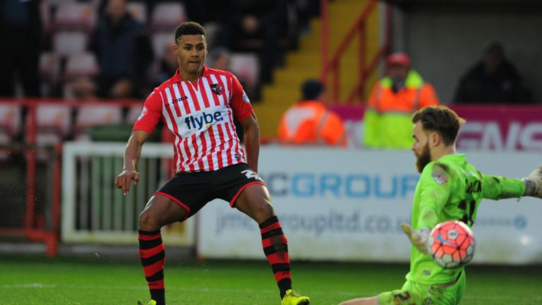 Ollie Watkins playing for Exeter City
