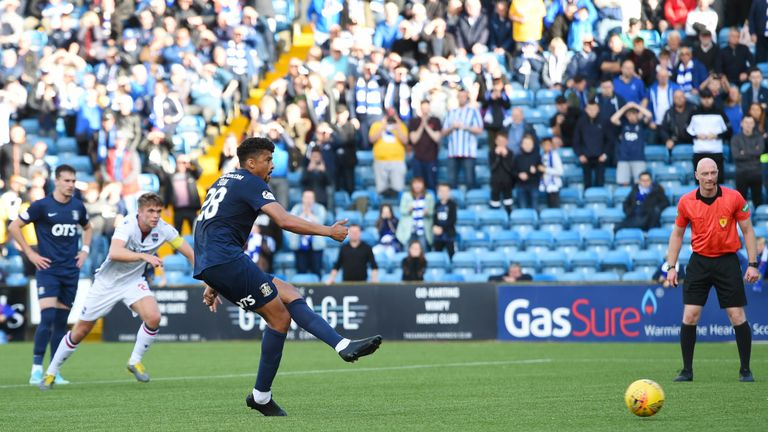 Osman Sow missing his penalty vs Ross County.