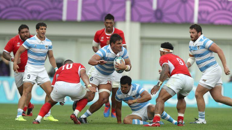 Pablo Matera tests Tonga's defence