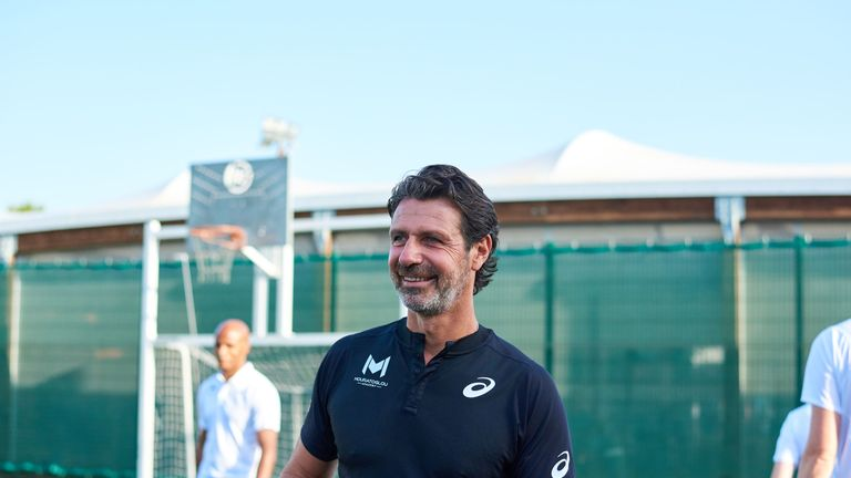 Patrick Mouratoglou was speaking to Sky Sports at the launch of Asics being named official footwear and apparel partner of the Mouratoglou Academy