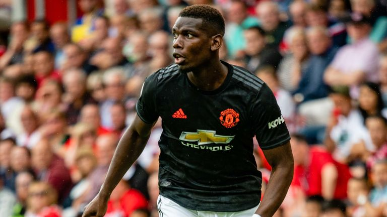 Midfielder Paul Pogba remains out for Manchester United against Astana