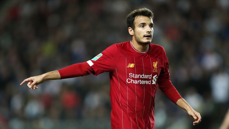 Pedro Chirivella  was a 63rd minute substitute in Liverpool's Carabao Cup win over MK Dons