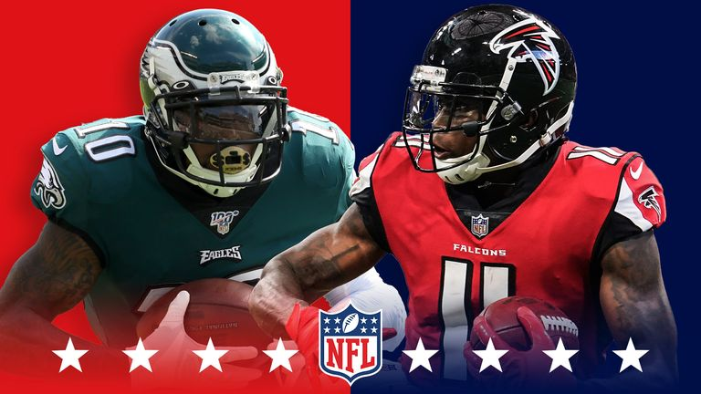 DeSean Jackson and Julio Jones will star when the Philadelphia Eagles and Atlanta Falcons meet in Sunday Night Football