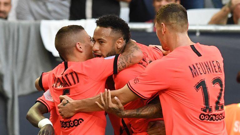 Neymar scored a third winner in four games for PSG