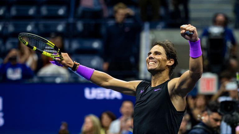 Nadal celebrates dogged straight-sets win against Matteo Berrettini