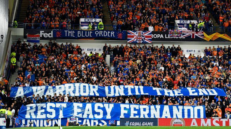 Rangers tribute to Fernando Ricksen