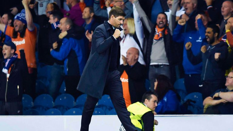 Rangers manager Steven Gerrard saw his team earn a deserved 1-0 win over Feyenoord at Ibrox in the Europa League