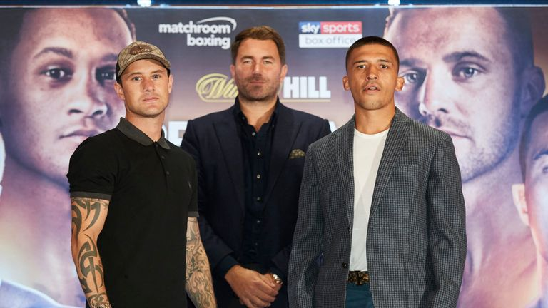 Ricky Burns (left) and Lee Selby will meet in a British showdown at The O2