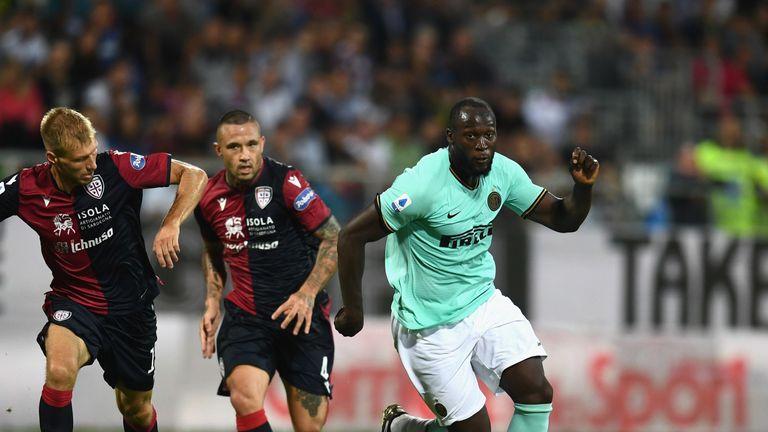 Romelu Lukaku in action vs Cagliari on September 1, 2019
