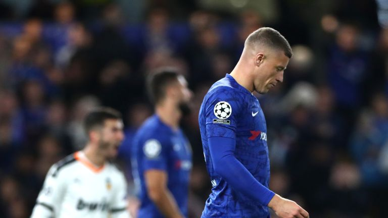 Ross Barkley after missing his penalty for Chelsea against Valencia