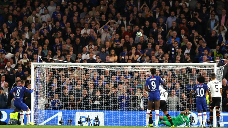 Spot the ball: Barkley misses his penalty