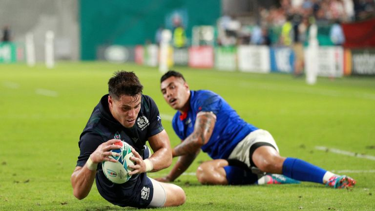 Sean Maitland scored Scotland's first try and was illegally denied a second late on, resulting in a penalty try