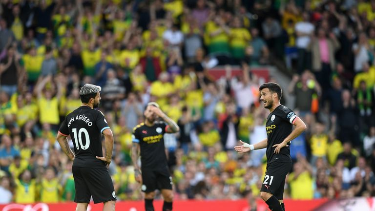 Watford's next opponents Manchester City were stunned 3-2 by Norwich on Saturday