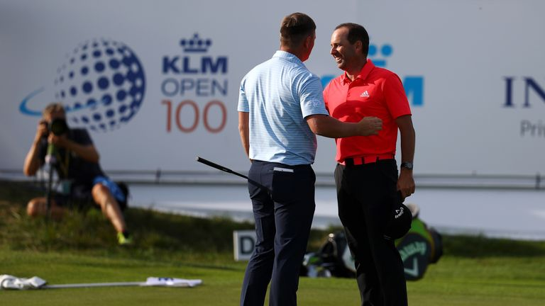 Garcia and Callum Shinkwin share the 54-hole lead