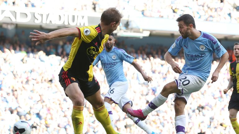 Bernardo Silva scored his second and City's sixth early in the second half