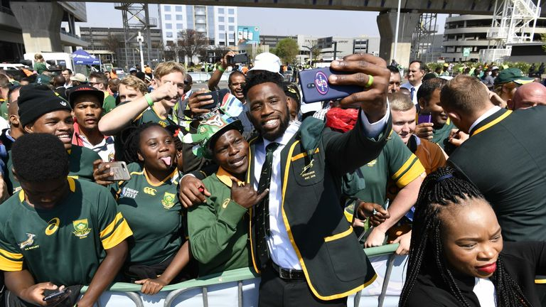 Siya Kolisi will lead a strong Springbok side in Japan