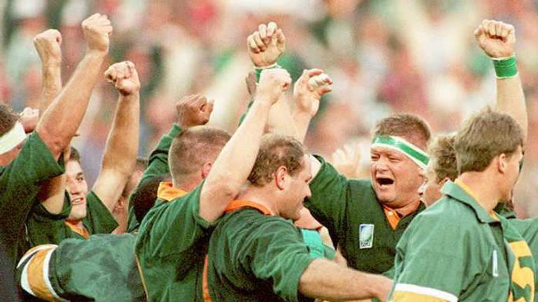 The 1995 World Cup was the Springboks' first participation in the event, having previously been banned because of apartheid
