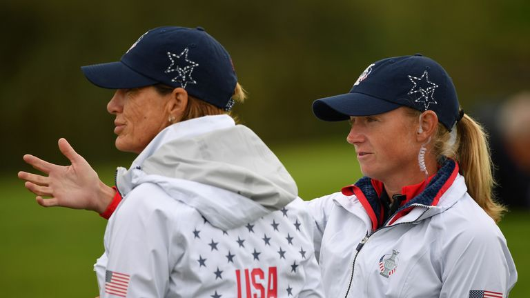 Lewis will now support Juli Inkster from the sidelines after pulling out with a back injury