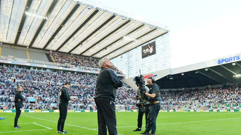 Attendances have been dwindling at St James' Park in recent months