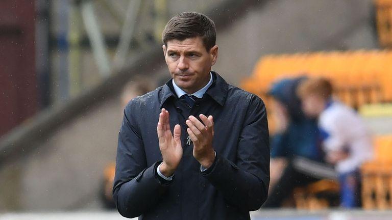 Steven Gerrard during the Ladbrokes Premiership match between St Johnstone and Rangers