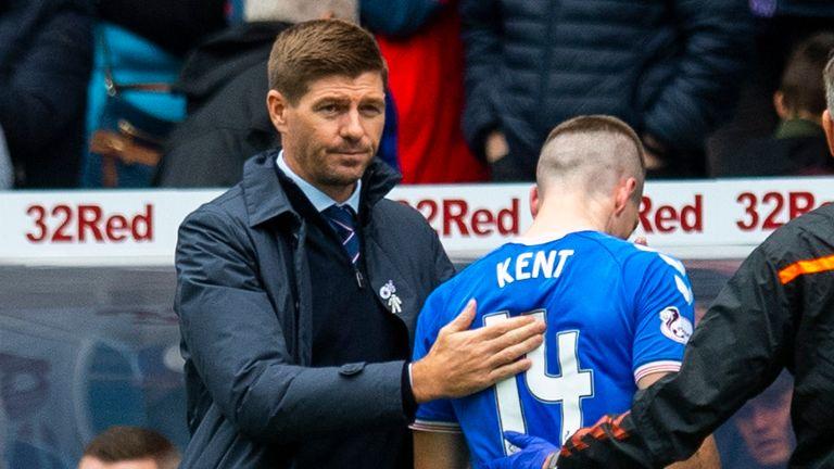 GLASGOW, SCOTLAND - SEPTEMBER 14: Ryan Kent goes off injured during the Ladbrokes Premiership match between Rangers and Livingston at Ibrox Stadium on September 14, 2019 in Glasgow, Scotland. (Photo by Craig Williamson / SNS Group)