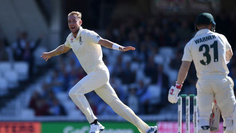 Stuart Broad, England, Ashes Test at The Oval