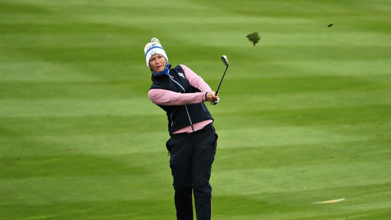 Pettersen clinched the match-winning point for Europe at the Solheim Cup