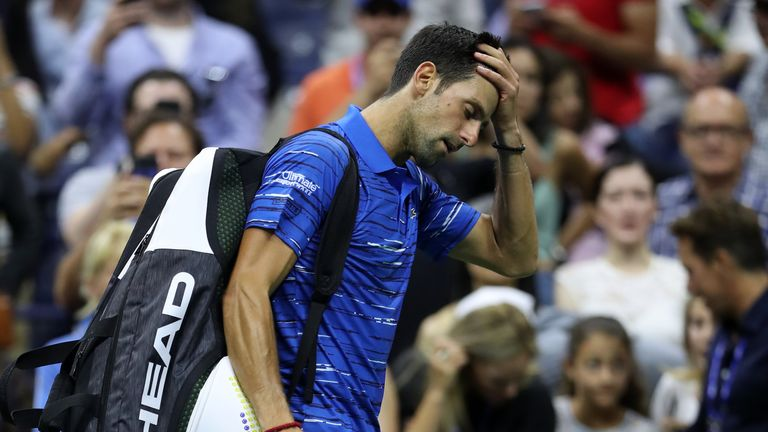 Djokovic was forced to withdraw from last month's US Open with a shoulder injury