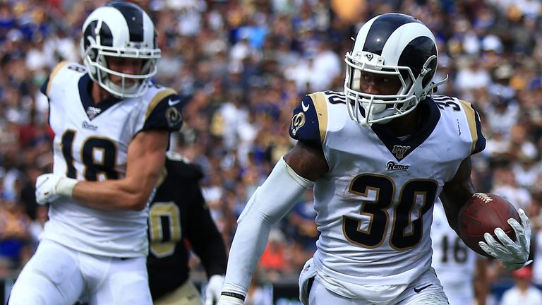 Todd Gurley was one of three touchdown scorers as the LA Rams recorded a second successive win