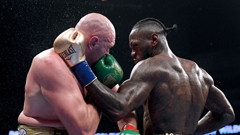 Fury got off the floor twice to draw with Wilder last year