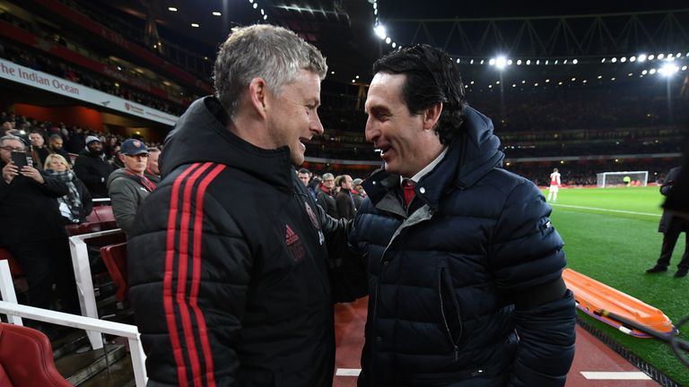 during the FA Cup Fourth Round match between Arsenal and Manchester United at Emirates Stadium on January 25, 2019 in London, United Kingdom.