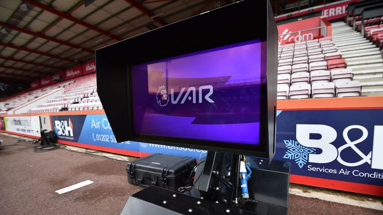 VAR monitors are present at Premier League games but have yet to be used