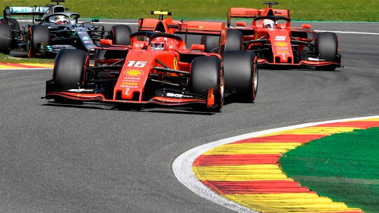 Charles Leclerc dedicated his first career F1 win in Belgium to Anthoine Hubert, who died in a Formula 2 race on Saturday
