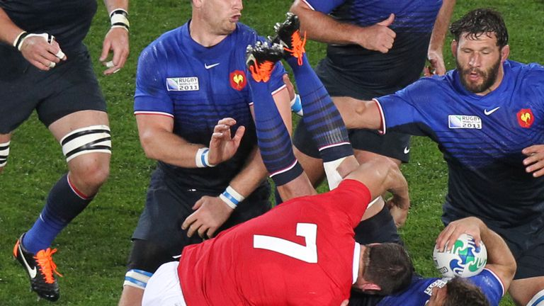 Sam Warburton's red card for Wales against France in their 2011 World Cup semi-final was highly controversial